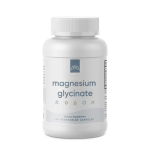 magnesium glycinate bottle supplement by MaxLiving