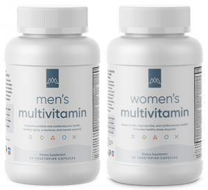 2 bottles of multivitamins by MaxLiving, mens and womens