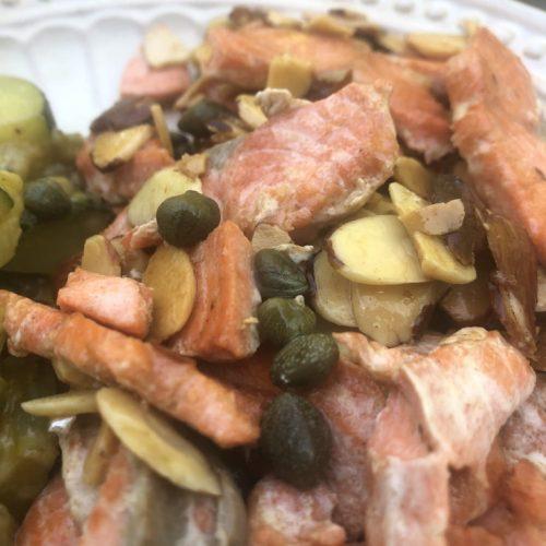 salmon-almondine