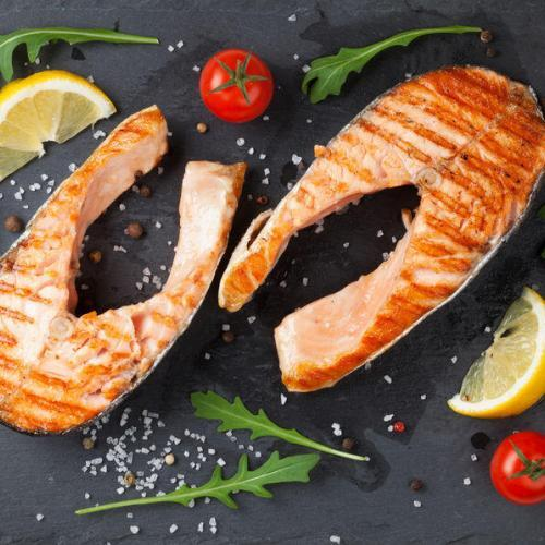 grilled broiled salmon steak recipe