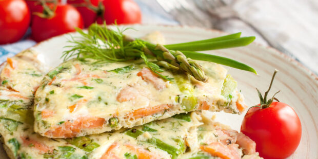 Try this delicious salmon frittata recipe.
