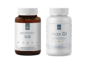 MaxLiving's Gut Health Supplements to support a healthy gut.