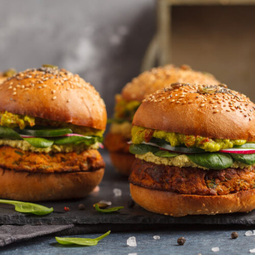 Try these vegan and vegetarian burger recipe made with chickpeas and sweet potatoes