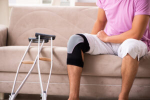 Joint pain may be caused by an injury during sport or active lifestyle.