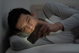 To ensure better sleep, turn off electronics before bed or use blue light technology