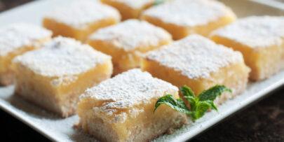 This lemon bar recipe is gluten-free, sugar-free, and paleo.