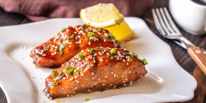 This tasty teriyaki salmon recipe is so quick and easy to make!