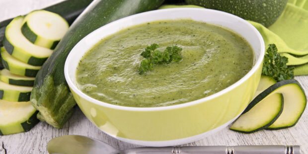 This cream of zucchini soup is simple yet flavorful All without the use of milk or cream